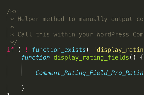 Comment Rating Field Pro: Developer Friendly