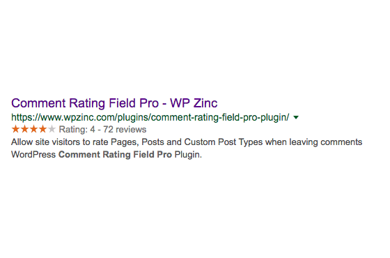 Comment Rating Field Pro: Google Rich Snippet Support