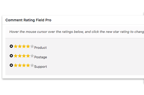 Comment Rating Field Pro: Manage Reviews