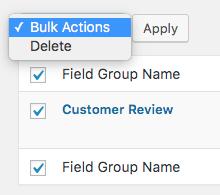 Comment Rating Field Pro Plugin: Bulk Delete