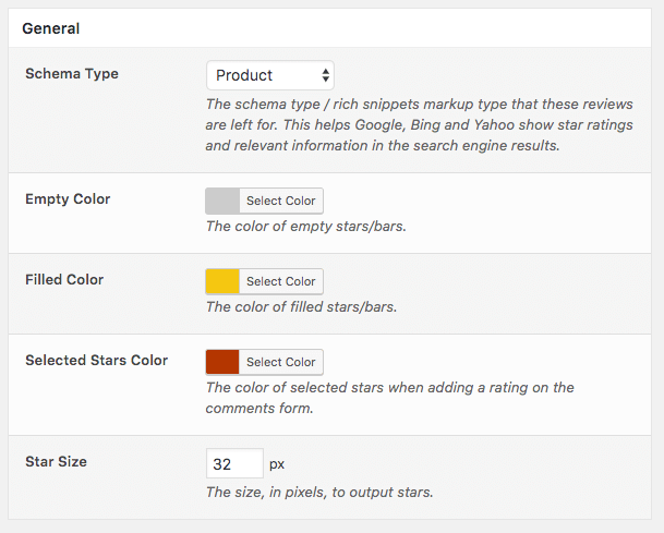 Comment Rating Field Pro Plugin: General