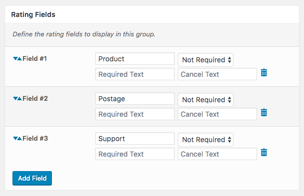 Comment Rating Field Pro Plugin: Rating Fields
