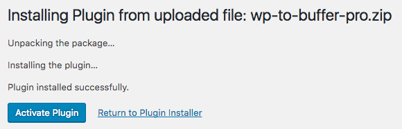 Installation: Activate Plugin