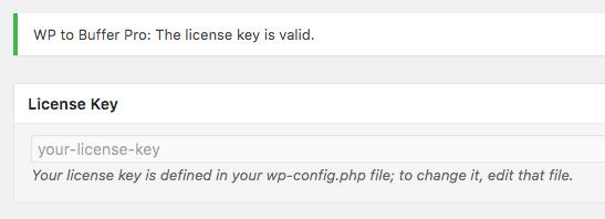 Licensing: wp-config example