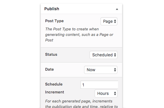 Page Generator Pro: Advanced Scheduling Functionality
