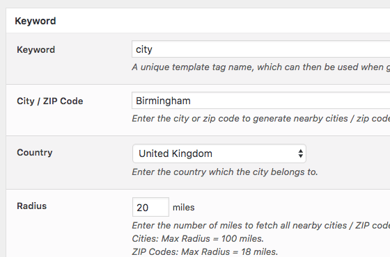 Page Generator Pro: Generate Nearby Cities and ZIP Codes