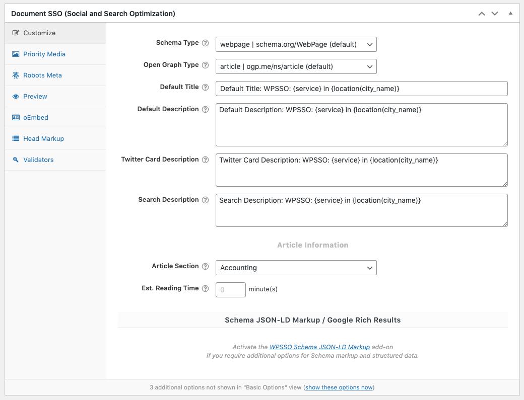 Page Generator Pro: Generate: SEO: WPSSO