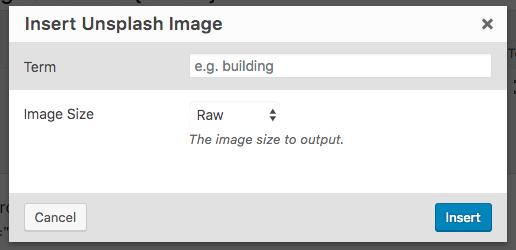 Page Generator Pro: Generate: Shortcodes: Unsplash Modal