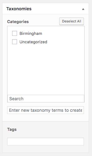 Page Generator Pro: Generate: Taxonomies