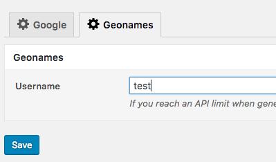 Page Generator Pro: Geonames: 5