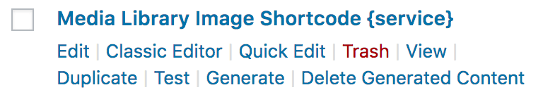 Page Generator Pro: Generate: Group Actions