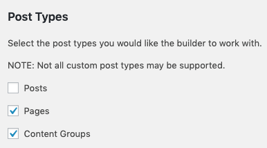 Page Generator Pro: Page Builders: Beaver Builder: Enable Content Groups