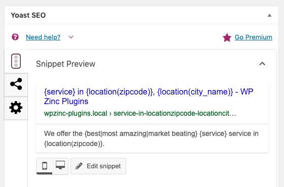 Page Generator Pro: SEO Integration