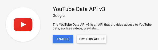 Page Generator Pro: Settings: Google: YouTube Data API v3