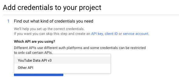 Page Generator Pro: Settings: Google: Which API
