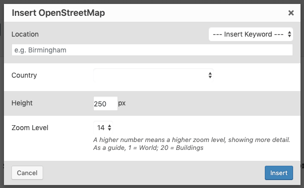 Page Generator Pro: Shortcodes: Open Street Map