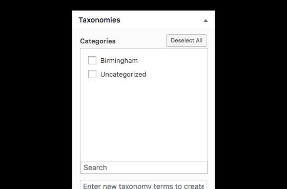 Page Generator Pro: Taxonomies