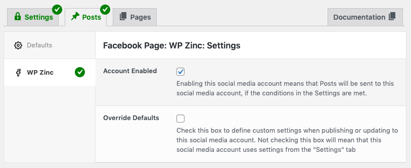 WordPress to Buffer Pro: Account Enabled Result