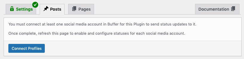 WordPress to Buffer Pro: Connect Profiles