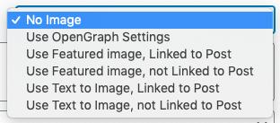 WordPress to Buffer Pro: Featured Image: Options