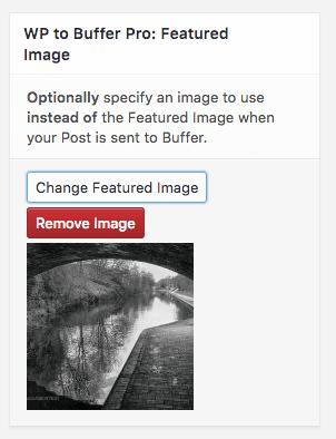 WordPress to Buffer Pro: Featured Image: Plugin