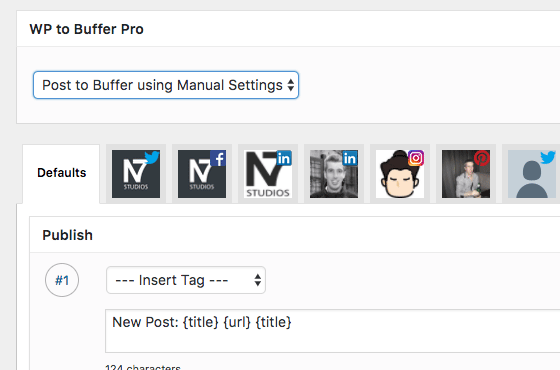 WordPress to Buffer Pro: Individual Post Settings