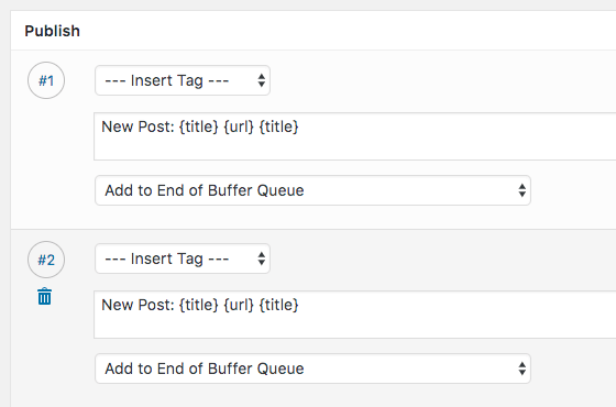 WordPress to Buffer Pro: Multiple Customisable Status Messages