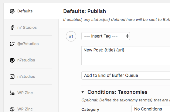 WordPress to Buffer Pro: Separate Options per Social Network