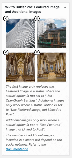 WordPress to Buffer Pro: Featured Images: Use Featured Image, Not Linked to Post
