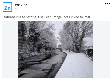 WordPress to Buffer Pro: Featured Image, No Link: LinkedIn