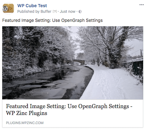 WordPress to Buffer Pro: Open Graph: Facebook