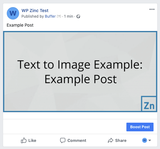 WordPress to Hootsuite Pro: Status Image: Text to Image, Not Linked to Post: Facebook