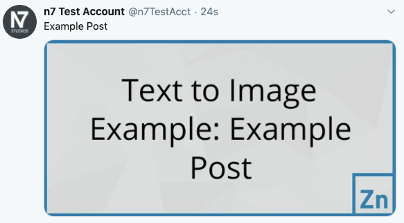 WordPress to SocialPilot Pro: Status Image: Text to Image, Not Linked to Post: Twitter