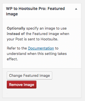 WordPress to Hootsuite Pro: Featured Image