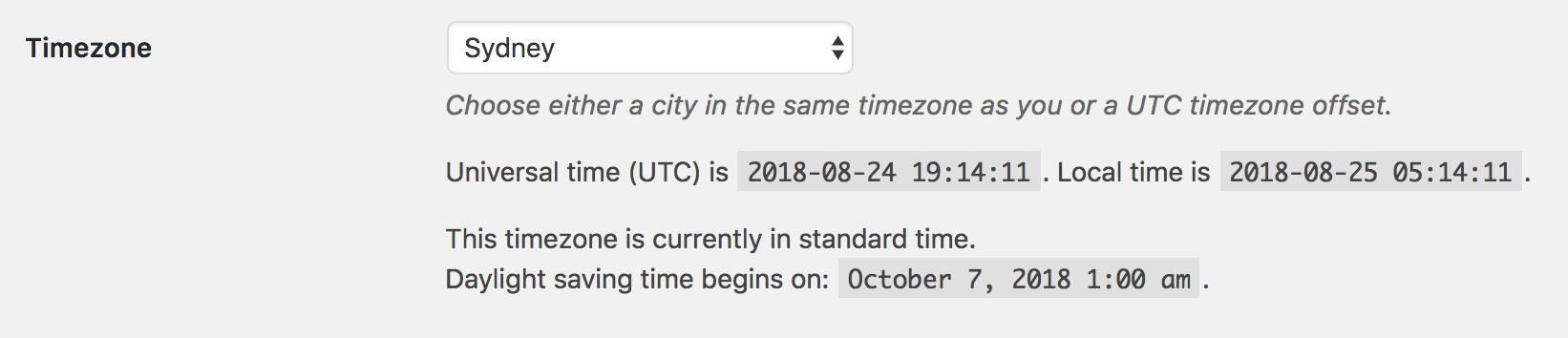 WordPress to Hootsuite Pro: Debugging: WordPress Timezone