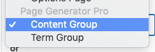 Page Generator Pro: Generate: Using Custom Fields: ACF: Content Group