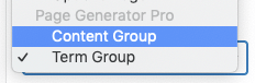 Page Generator Pro: Generate: Using Custom Fields: ACF: Term Group