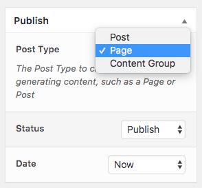 Page Generator Pro: Tutorial: Publish Options