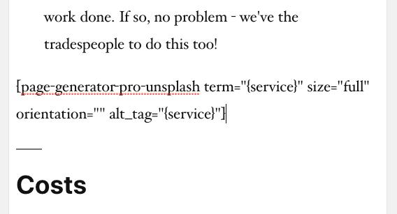 Page Generator Pro: Tutorial: Unsplash Shortcode Output
