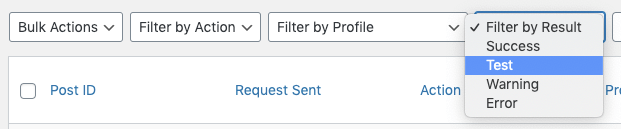 WordPress to SocialPilot Pro: Repost Settings: Debugging: Log: Filter Results