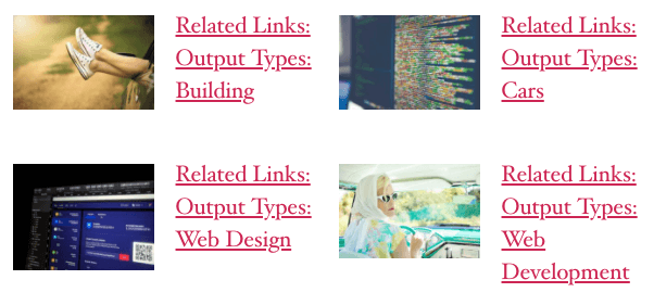 Page Generator Pro: Related Links: Example: Two Columns with Featured Image, Horizontal