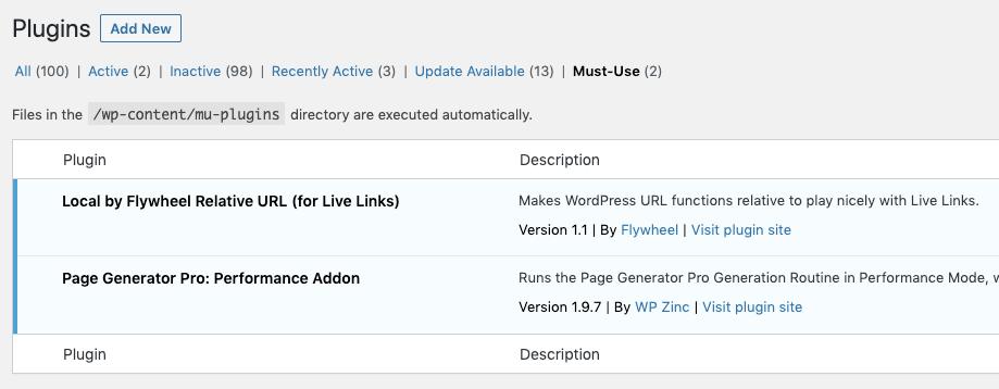 Page Generator Pro: Settings: Generate: Use Performance Addon