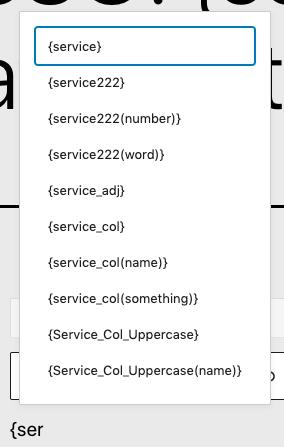 Page Generator Pro: Generate Content: Using Keywords: Autocomplete List on Gutenberg Block