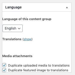 Page Generator Pro: Generate: Multilingual Content: WPML: Content Groups: English Language