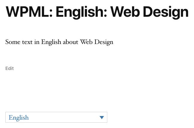 Page Generator Pro: Generate: Multilingual Content: WPML: Content Groups: Generated Content: English