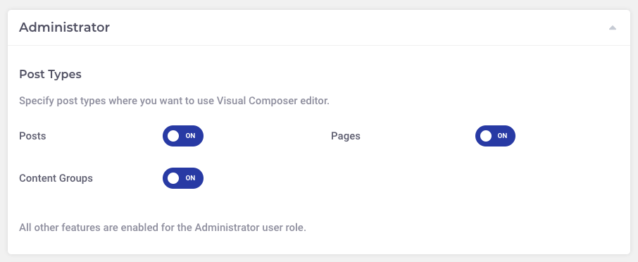 Page Generator Pro: Visual Composer: Role Manager: Post Types
