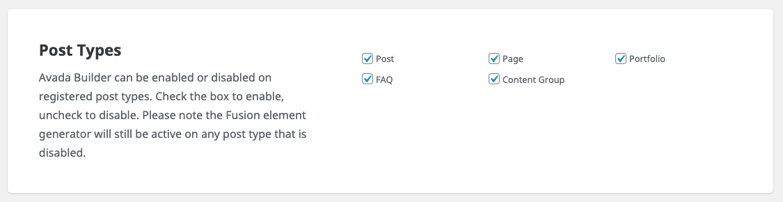 Page Generator Pro: Avada: Post Types