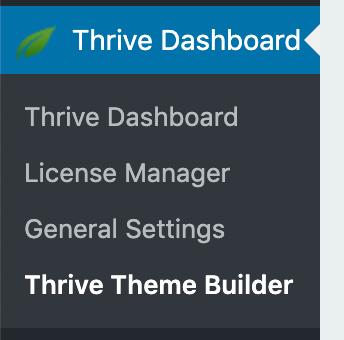 Page Generator Pro: Generate: Content: Thrive Theme Builder: Menu