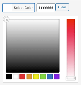 WordPress to Buffer Pro: Text to Image Settings: Color Picker