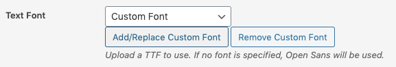 WordPress to Buffer Pro: Text to Image Settings: Add Custom Font